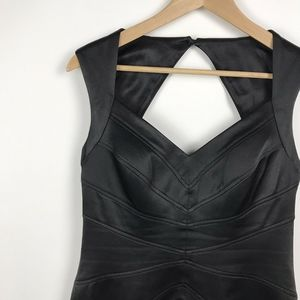 Jessica Simpson Sexy Black Sheath Dress Open Back
